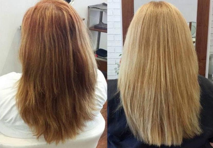 Обесцвечивание волос отзывы фото до и после основного
