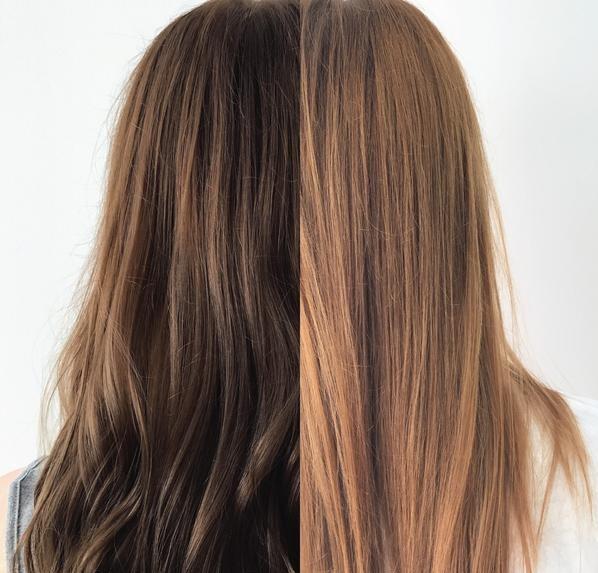 Смывание тоника с волос