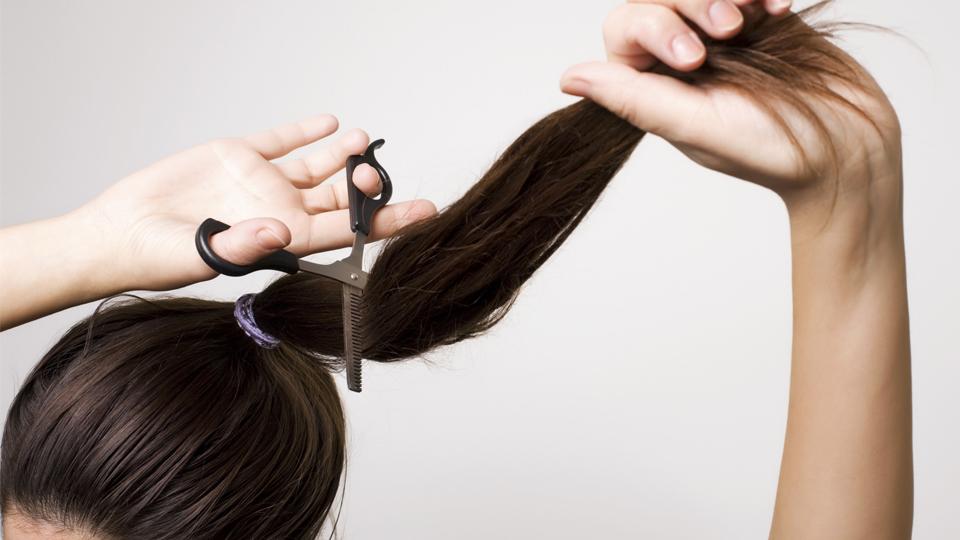 Подстричь саму себя в домашних условиях фото кончик, чтобы