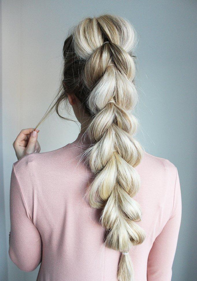 коса с резиночками
