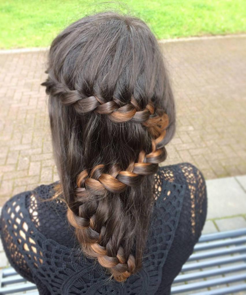 коса зигзаг