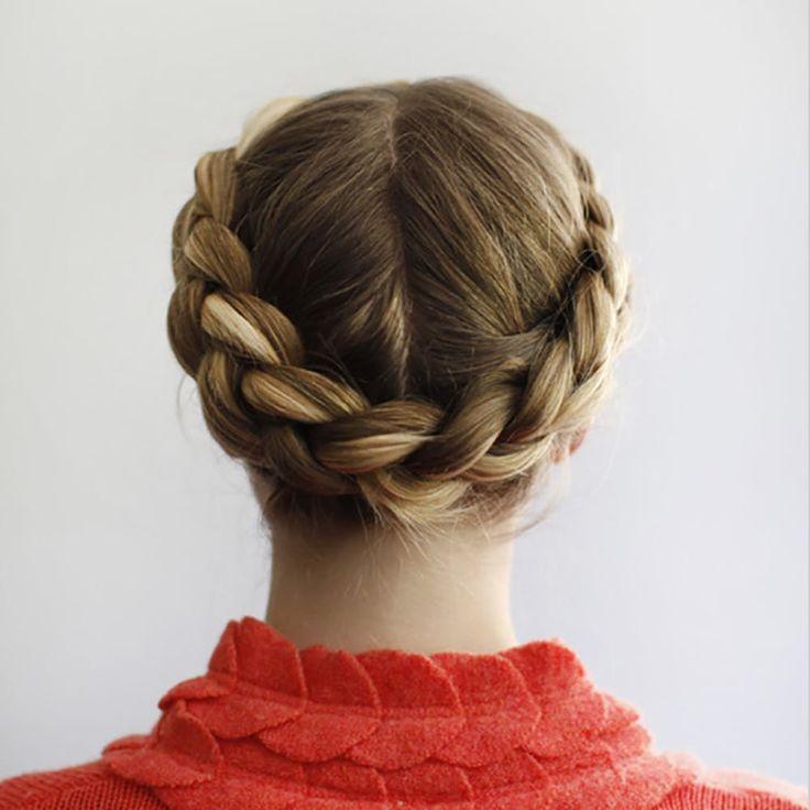 Прическа коса вокруг головы для девочки